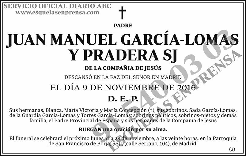 Juan Manuel García-Lomas y Pradera SJ